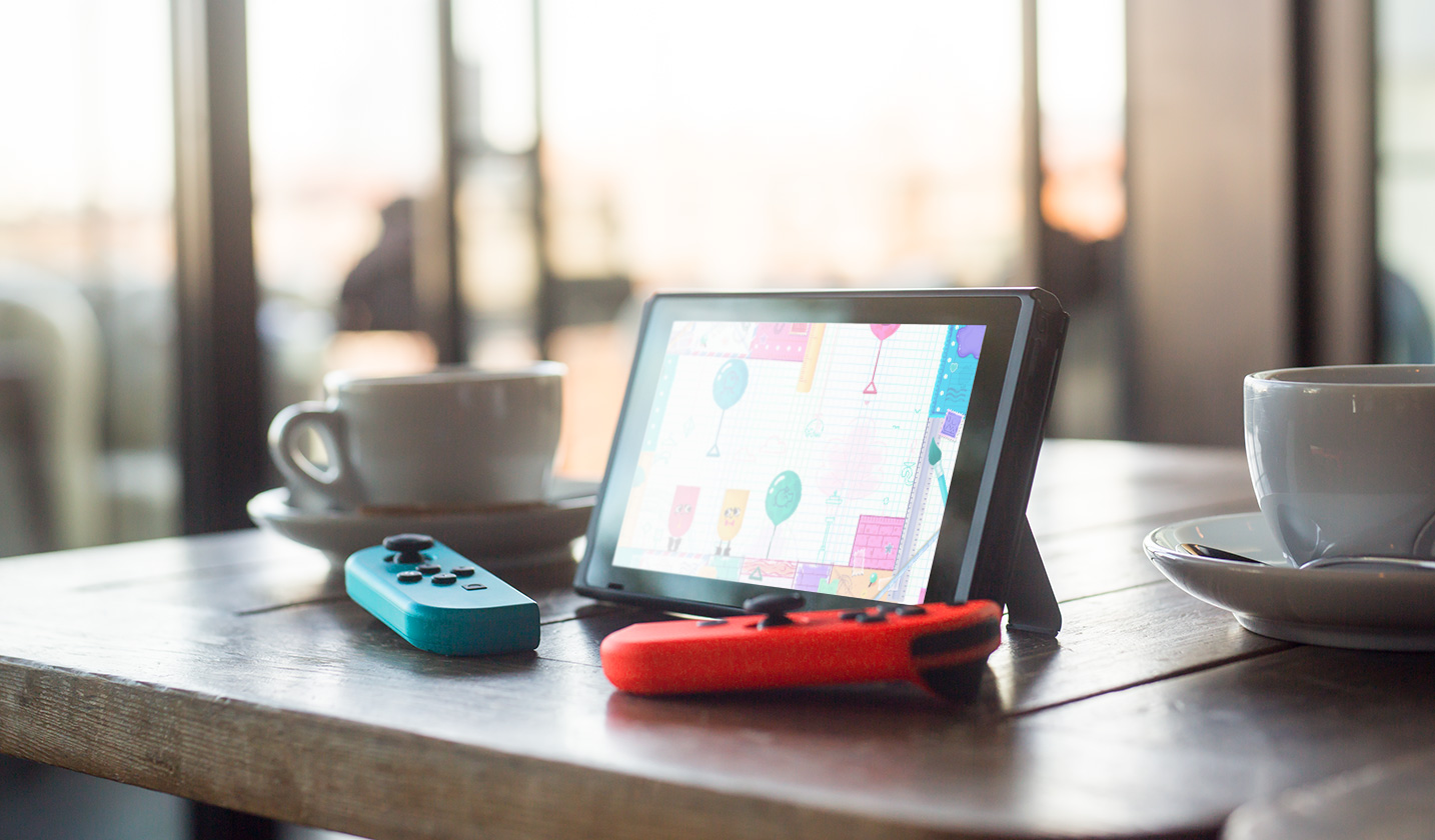 nintendo switch table top mode koffie