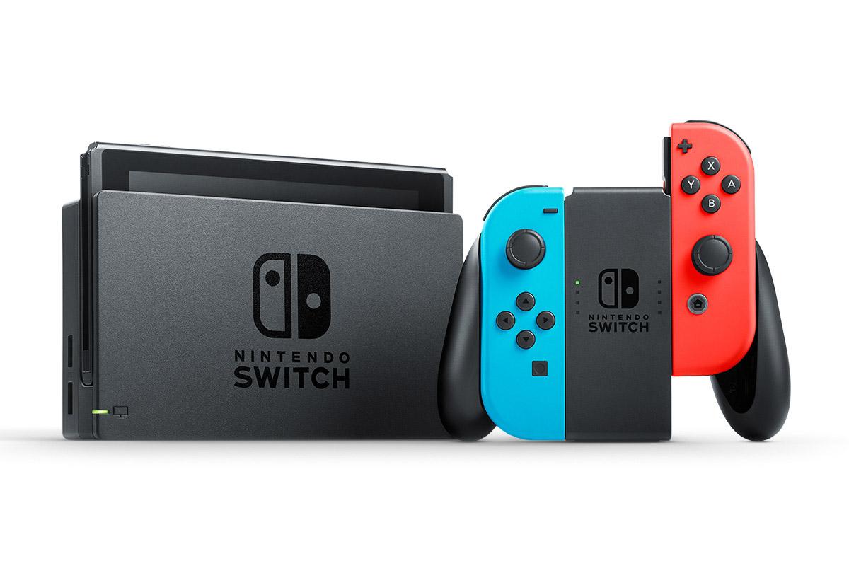 nintendo switch blauw oranje