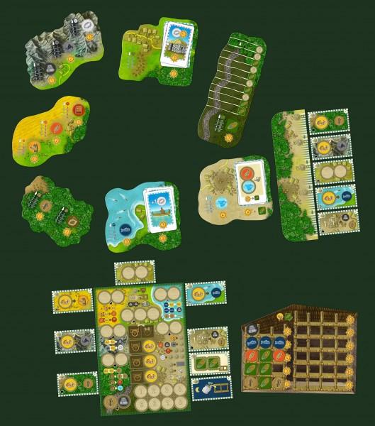 Spelersbord en de locaties
