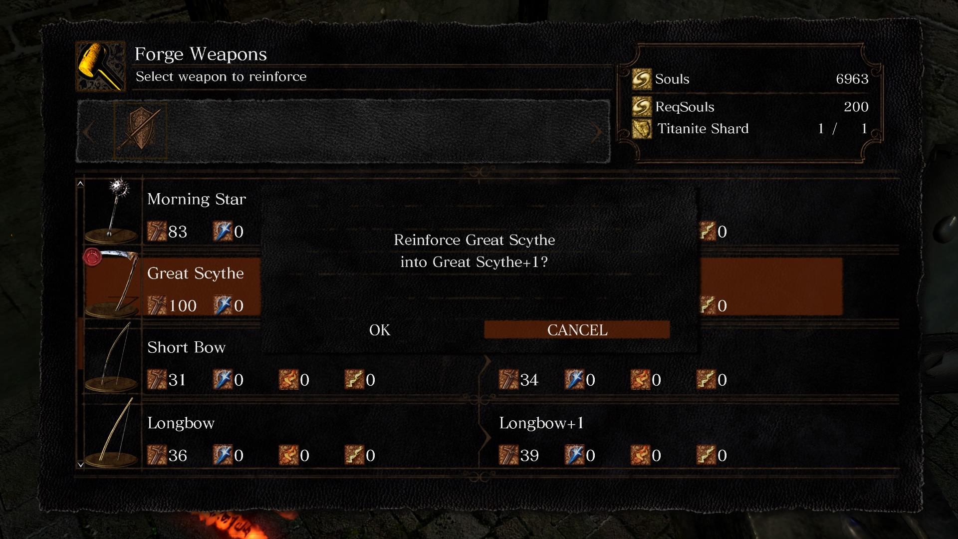Dark Souls Remastered weapon upgrade