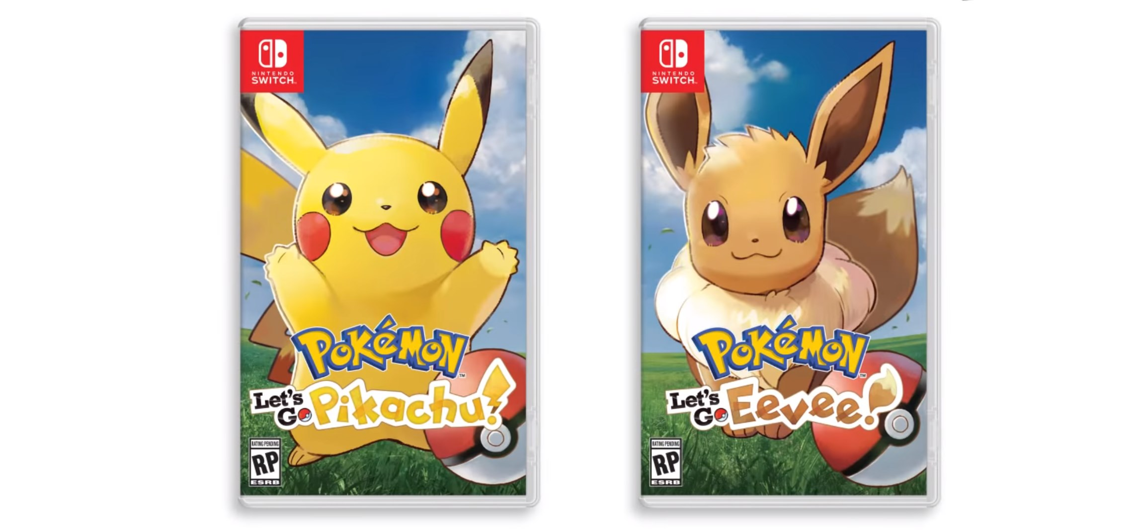 pokémon let's go pikachu eevee box art