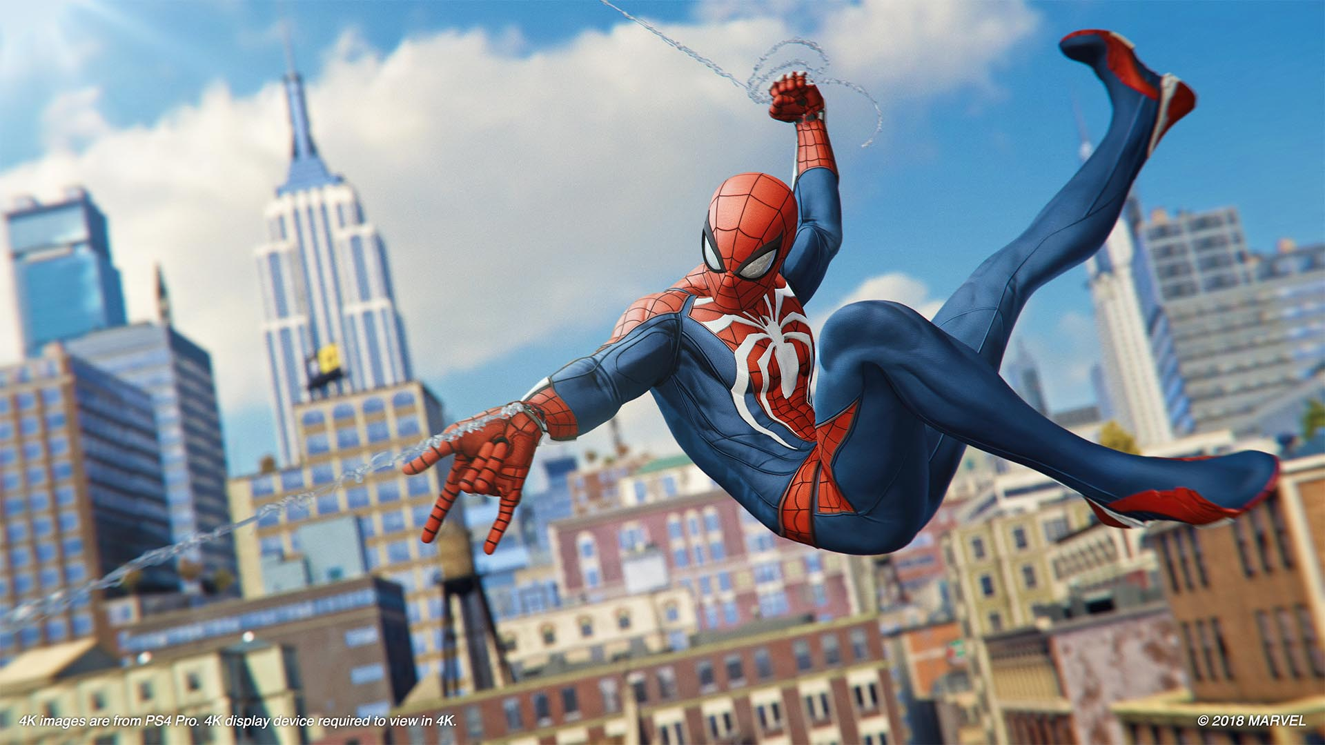 Marvel's Spider-Man webslingeren