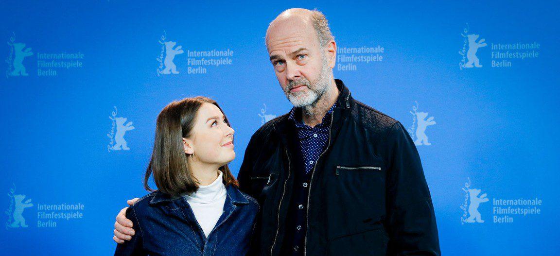 Andrea Berntzen en regisseur Erik Poppe