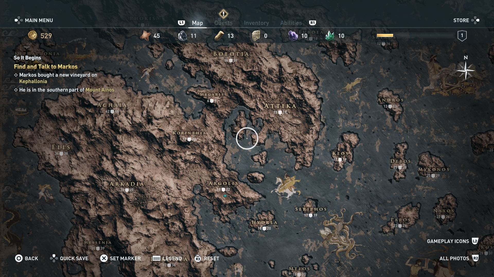 Assassin's Creed Odyssey map
