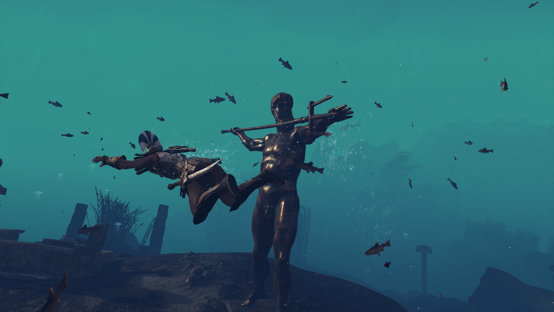 Assassin's Creed Odyssey swimming