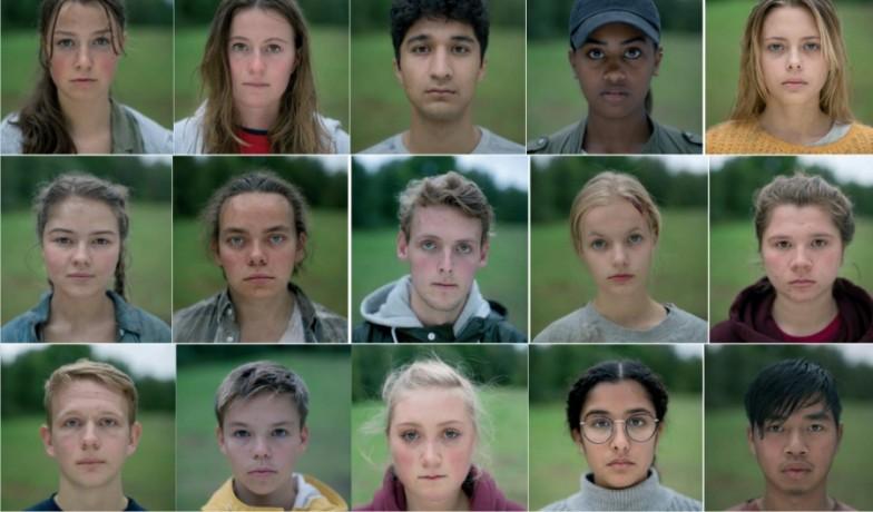 Enkele van de jonge cast