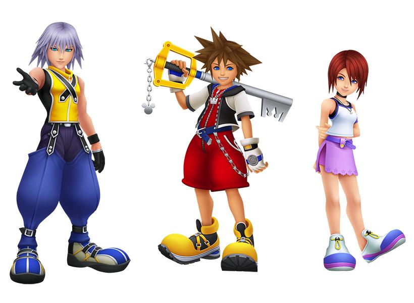 Kingdom Hearts Sora Riki Kairi KH1