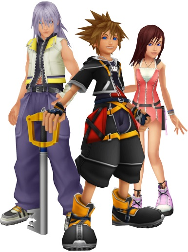 Kingdom Hearts Sora Riku Kairi KH2