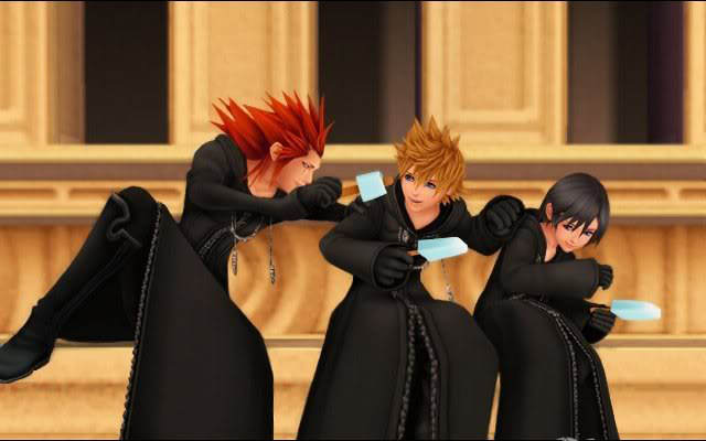 Kingdom Hearts axel roxas xion