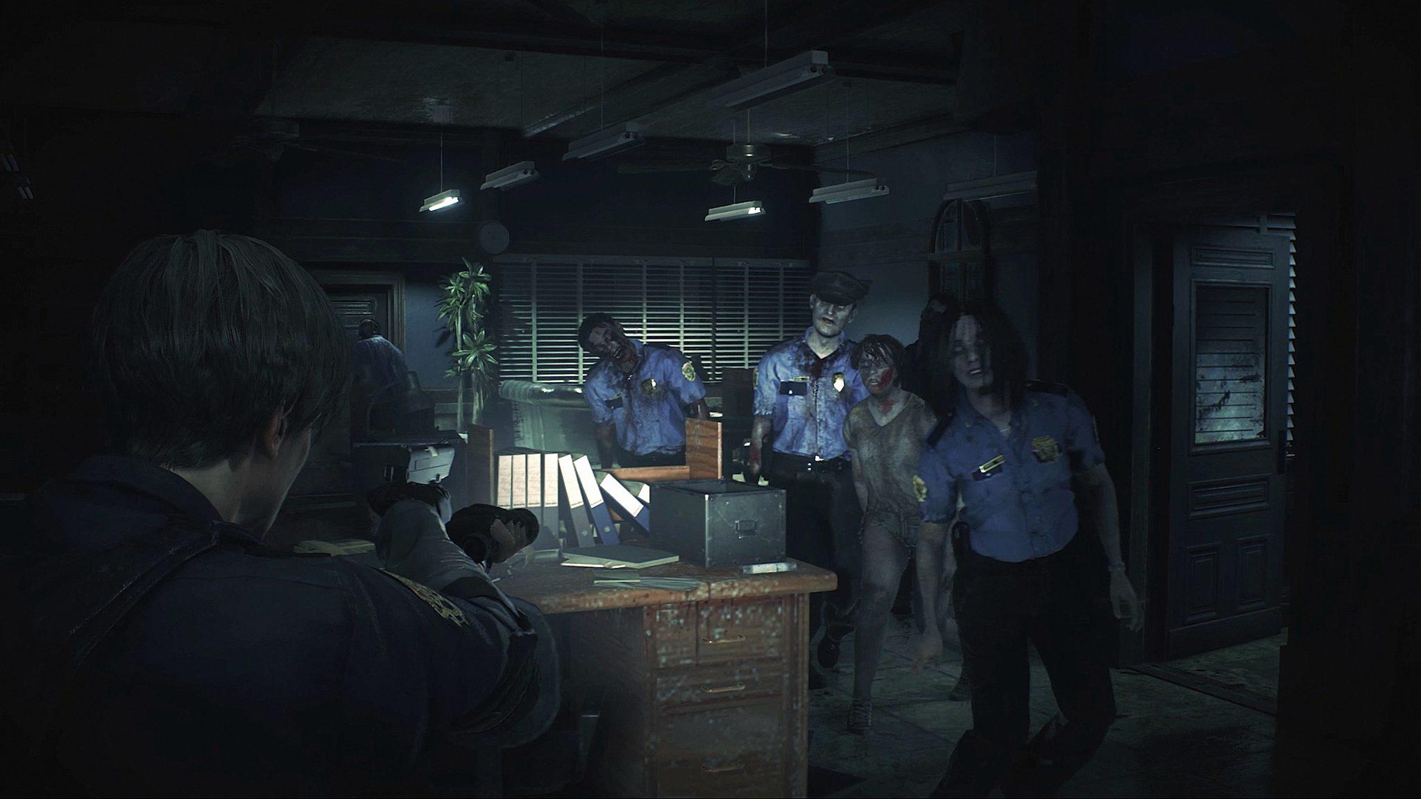 resident evil 2 politiestation zombies