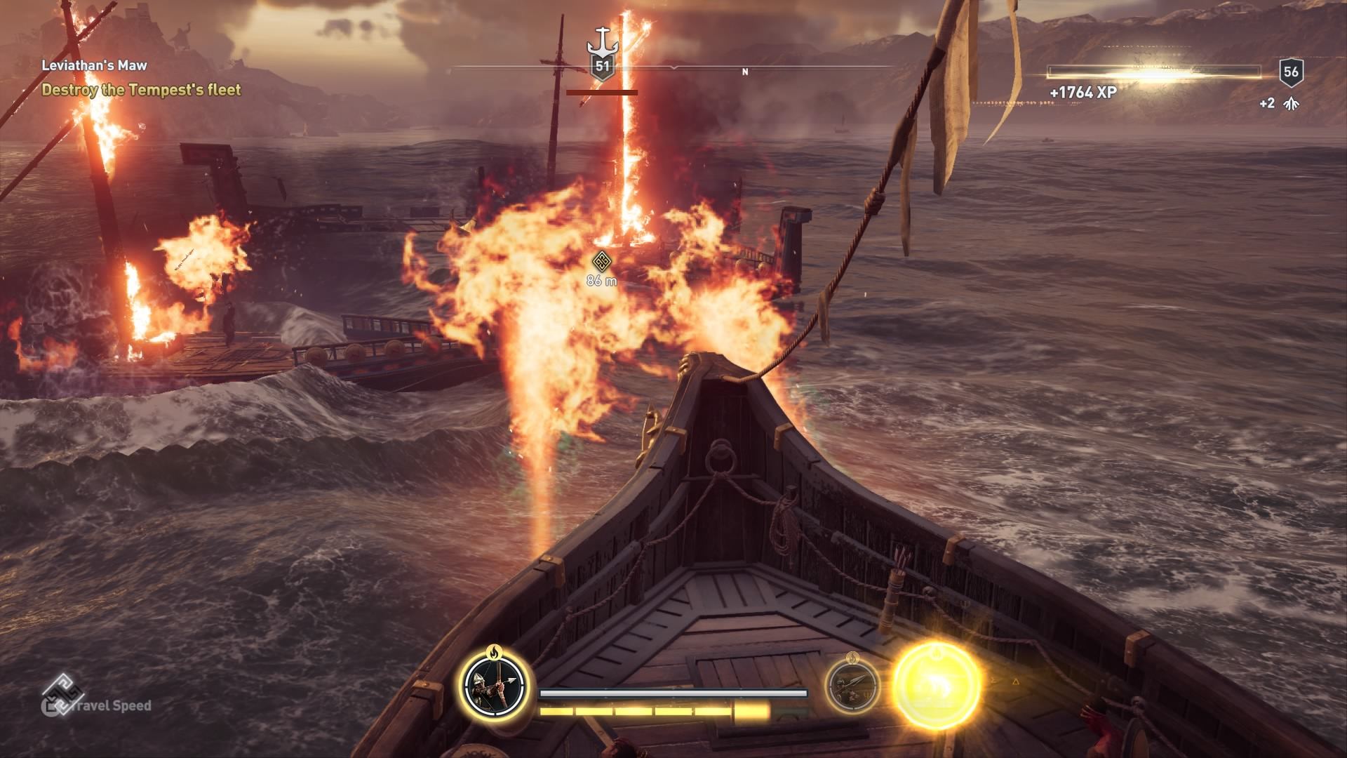 Assassin's Creed Odyssey flamethrower