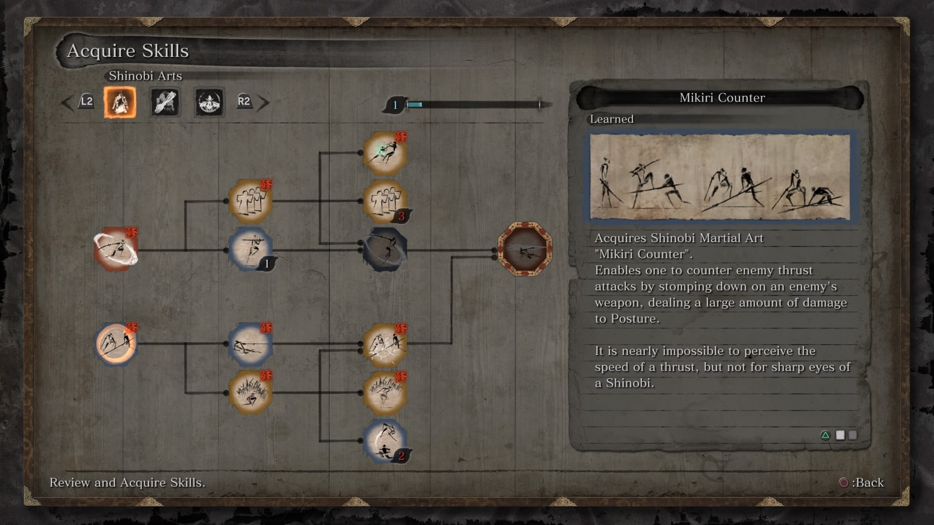 Sekiro skill tree
