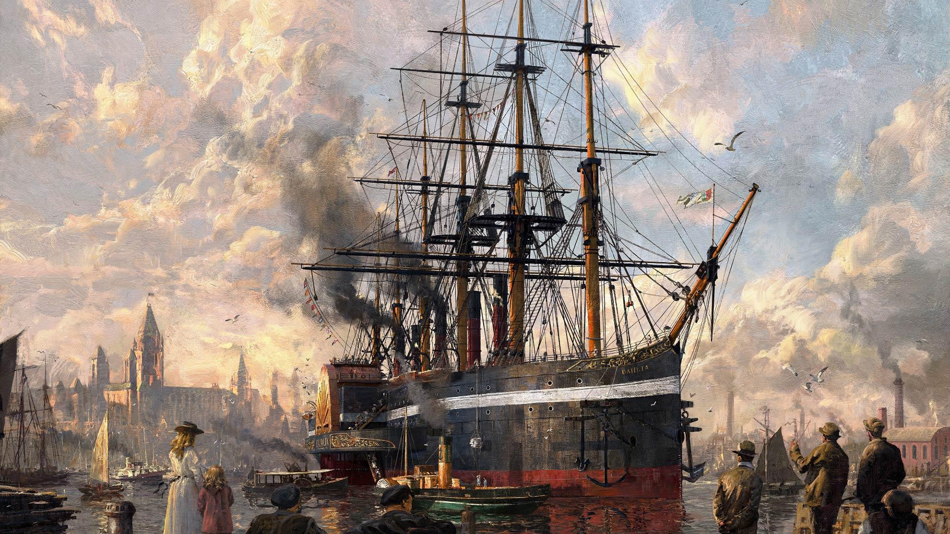 anno 1800 ship schilderij