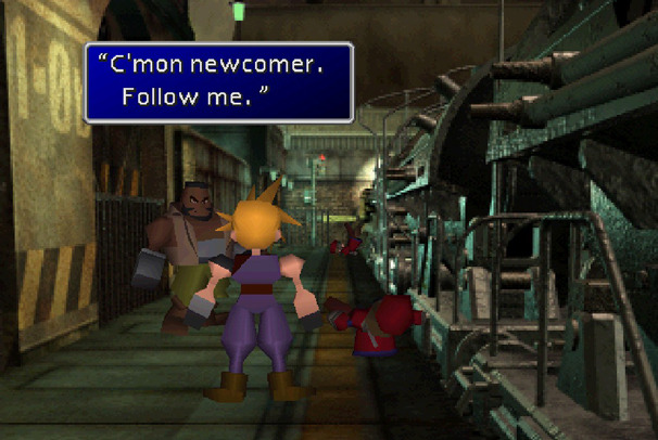 final fantasy vii playstation psx psone cloud barret midgar