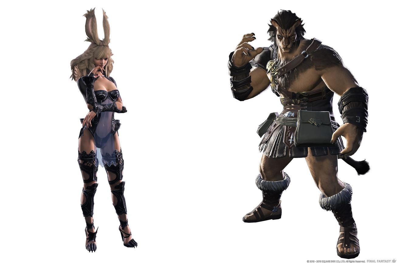 Viera and Hrothgar Races