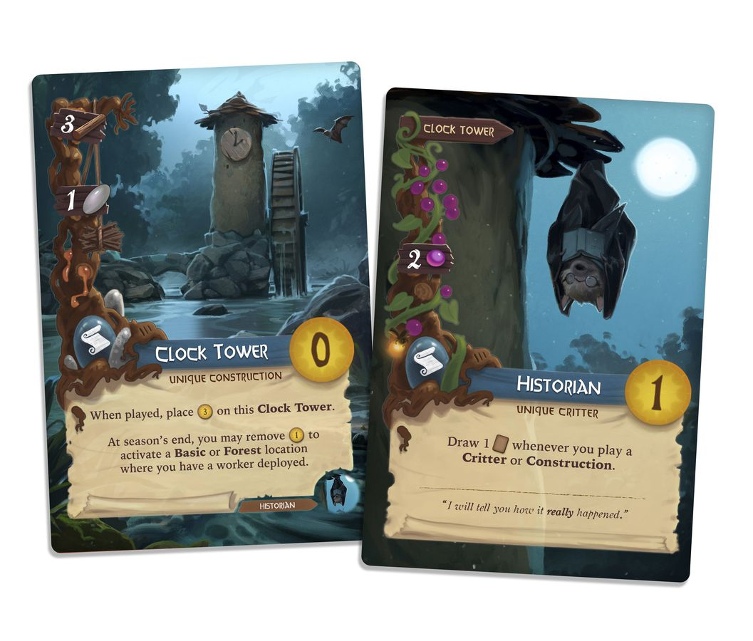 Everdell buildings and cards
