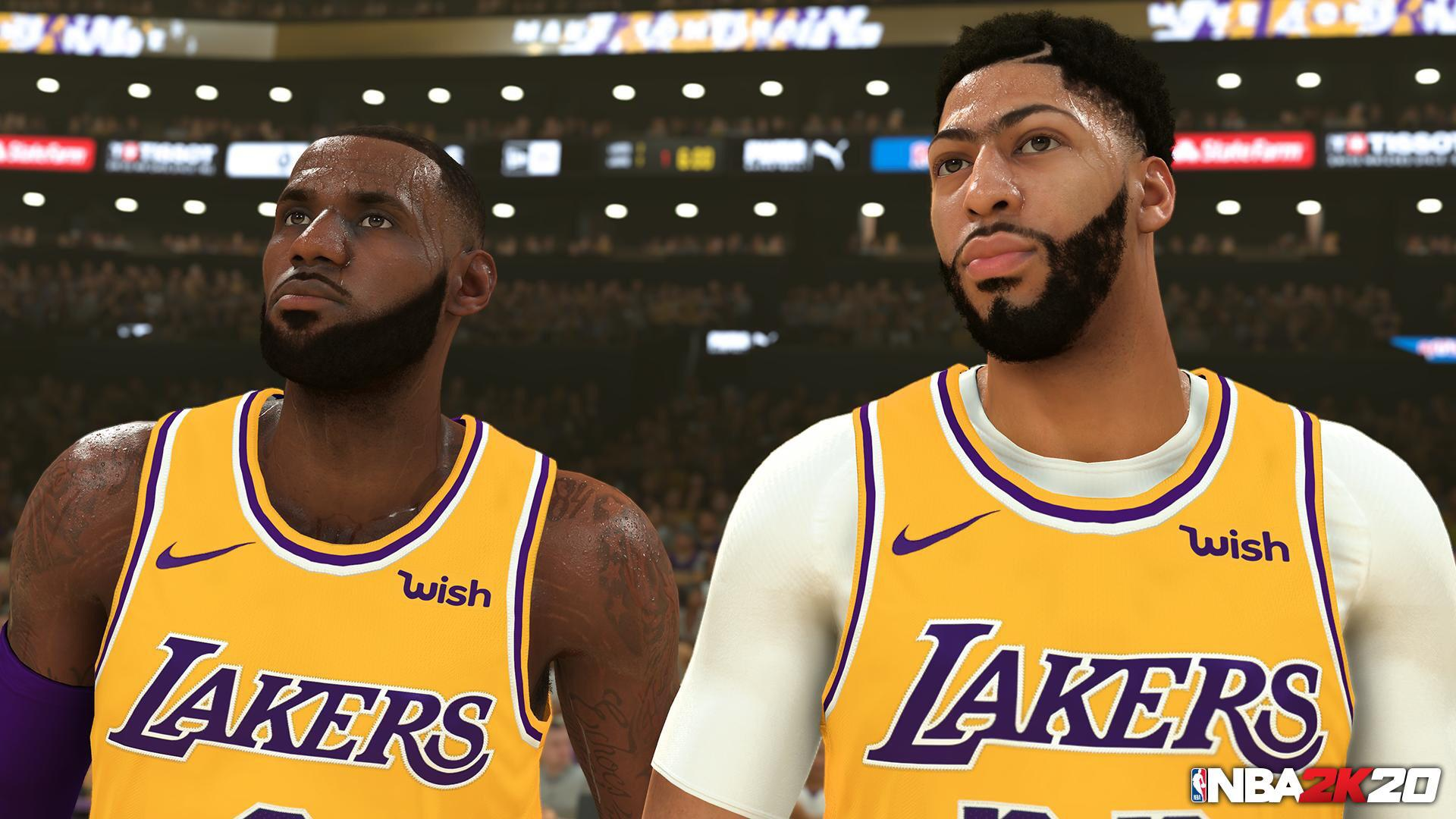 NBA 2K20 LeBron James Anthony Davis