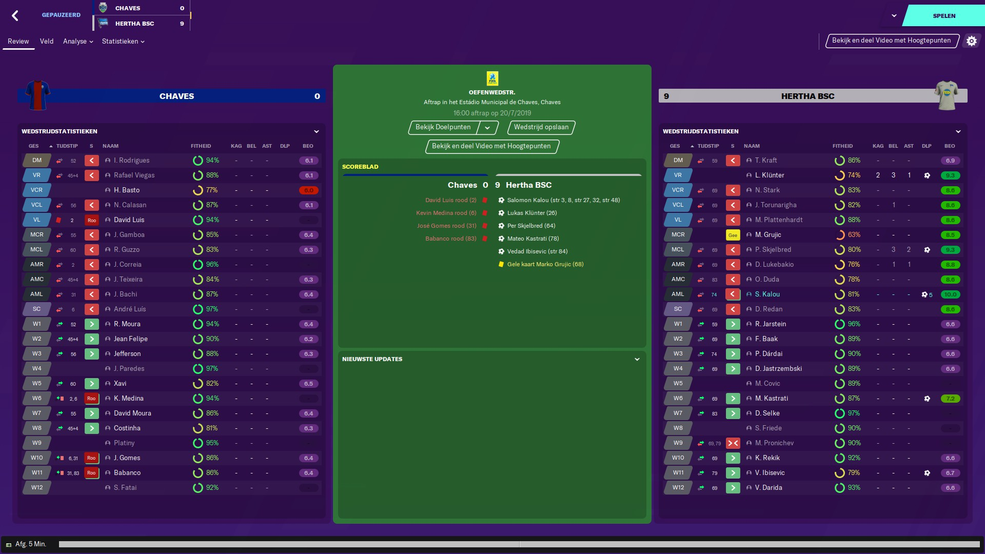 Football Manager 2020 match
