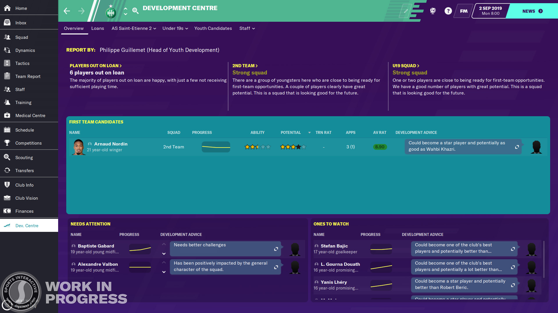 Football Manager 2020 ontwikkelingscentrum