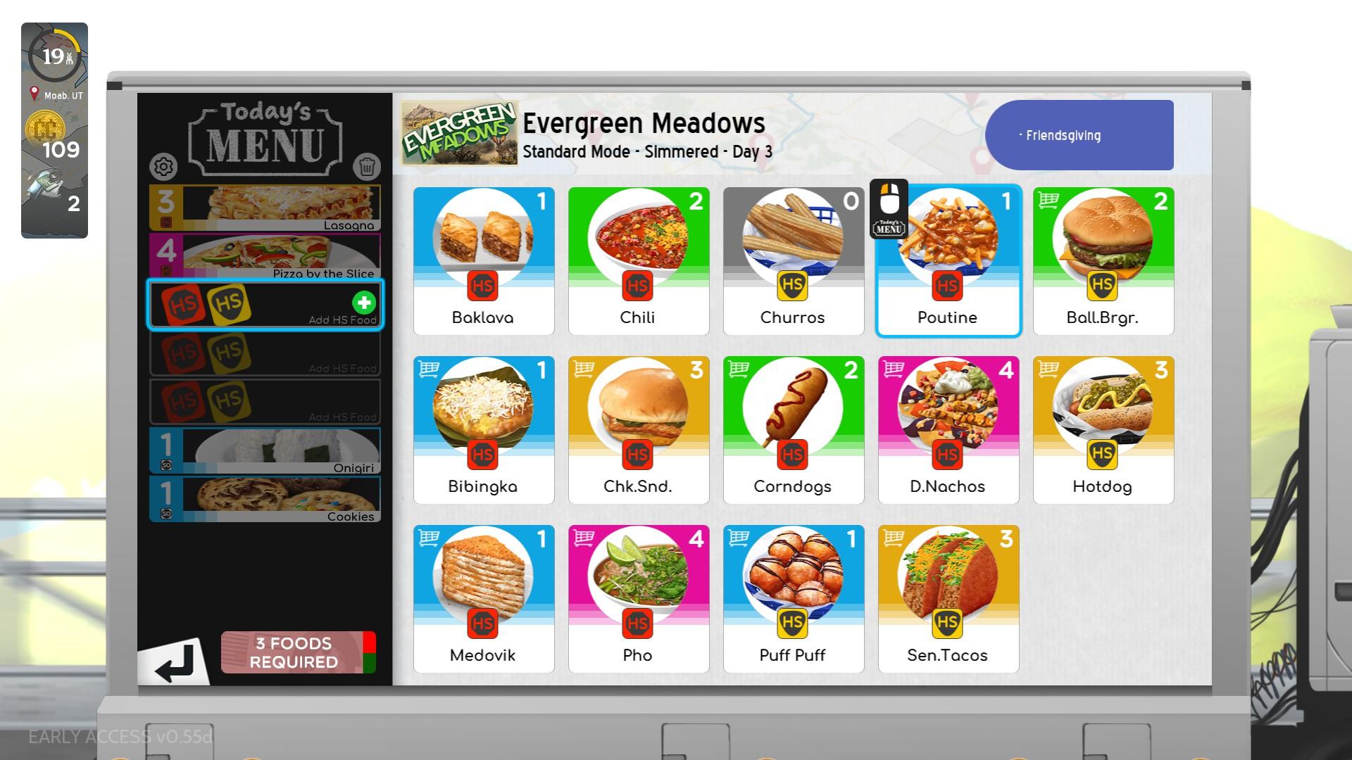 CSD3 menu