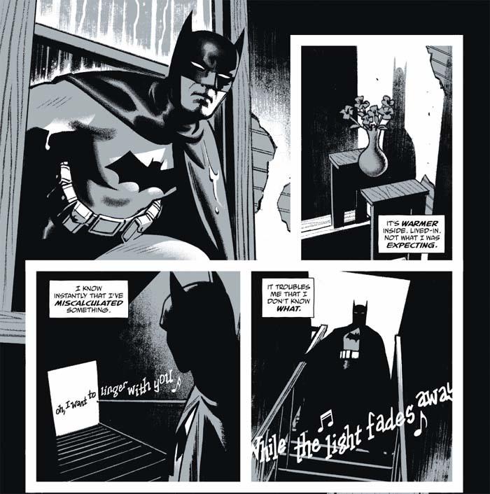 batman black white smallwood plaat