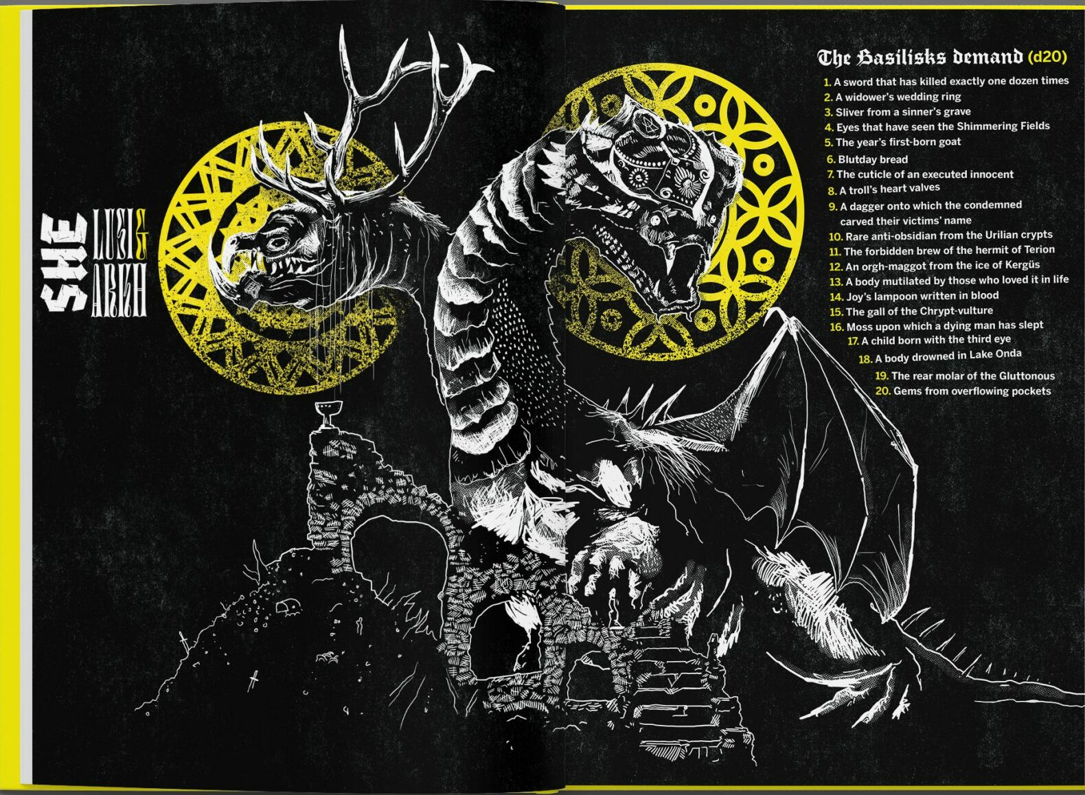 MörK Borg basilisk